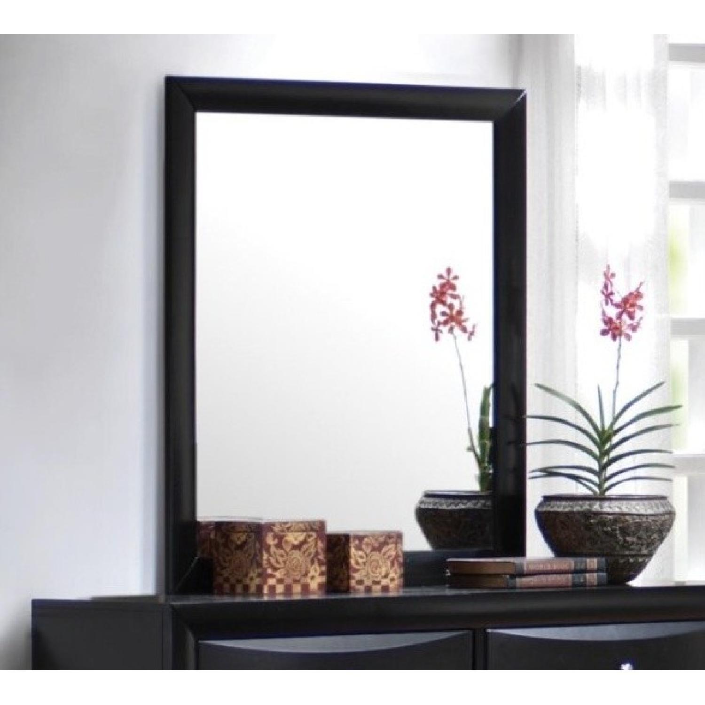 Mirror w/ Black Wood Frame - image-1
