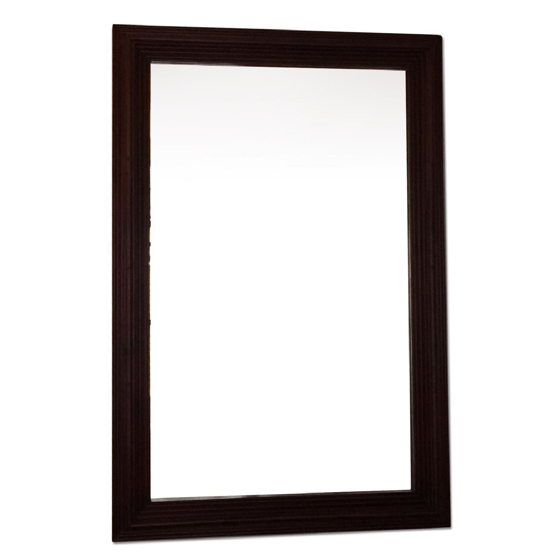 Mirror w/ Black Wood Frame - image-0