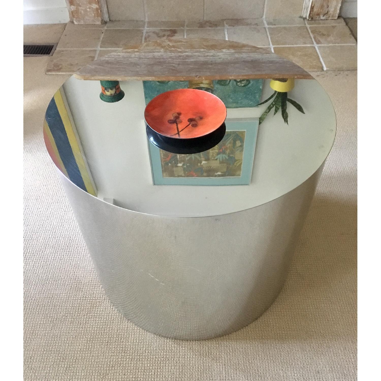 Paul Mayen Style Drum Coffee Table - image-1