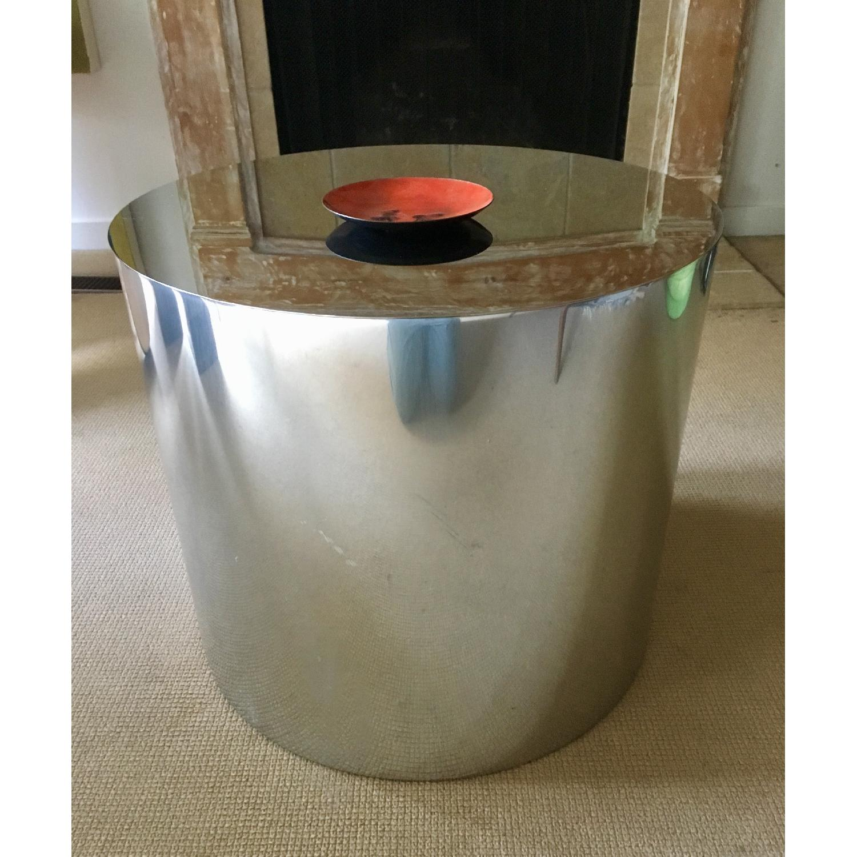 Paul Mayen Style Drum Coffee Table - image-4