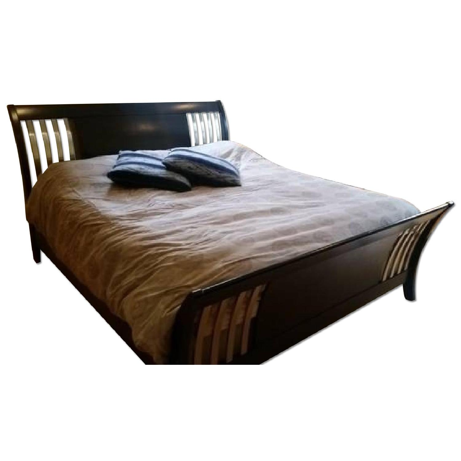 King Size Sleigh Bed Frame - image-0
