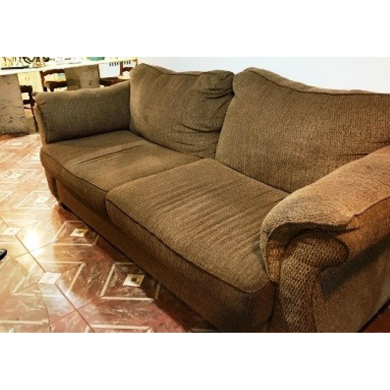 Brown Sofa + Loveseat - image-1