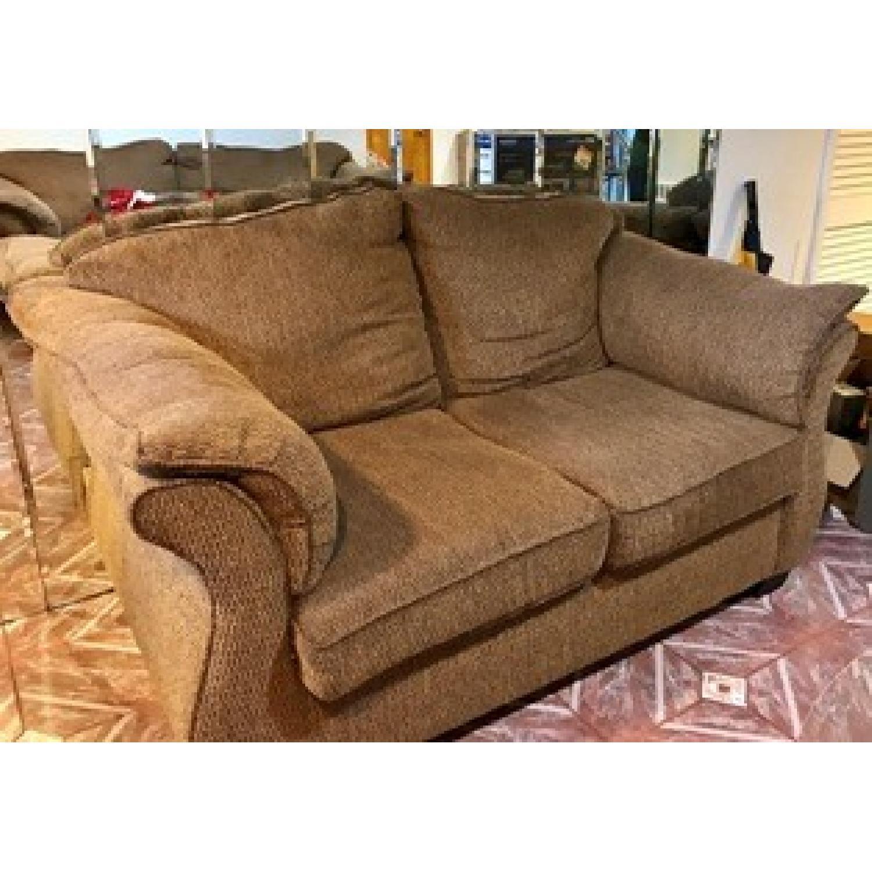 Brown Sofa + Loveseat - image-3