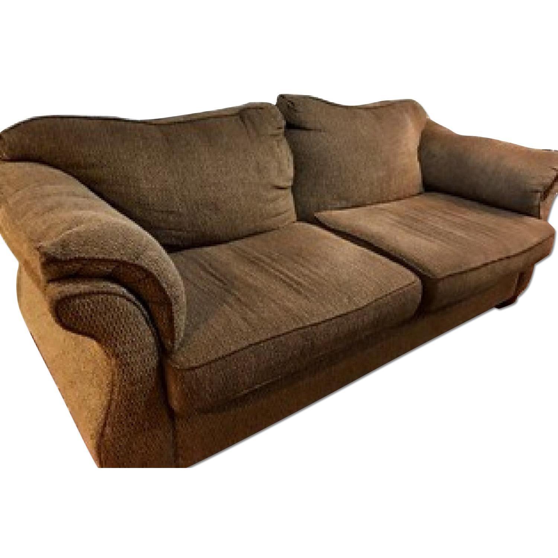 Brown Sofa + Loveseat - image-0