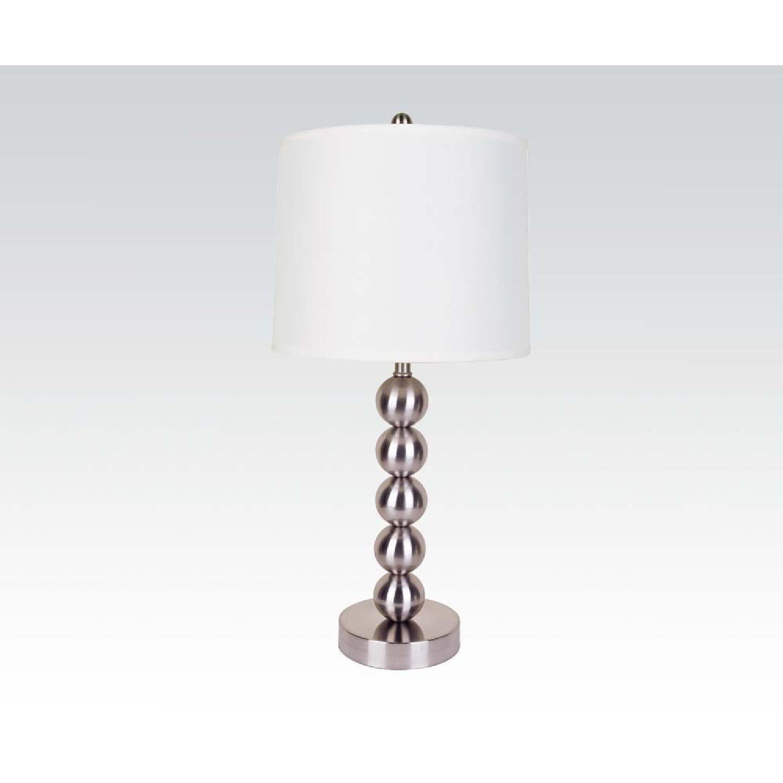 Modern Table Lamps w/ Chrome Base - image-1