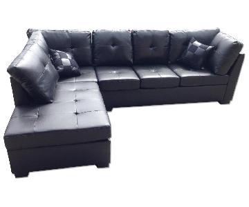 Black Modern Sectional