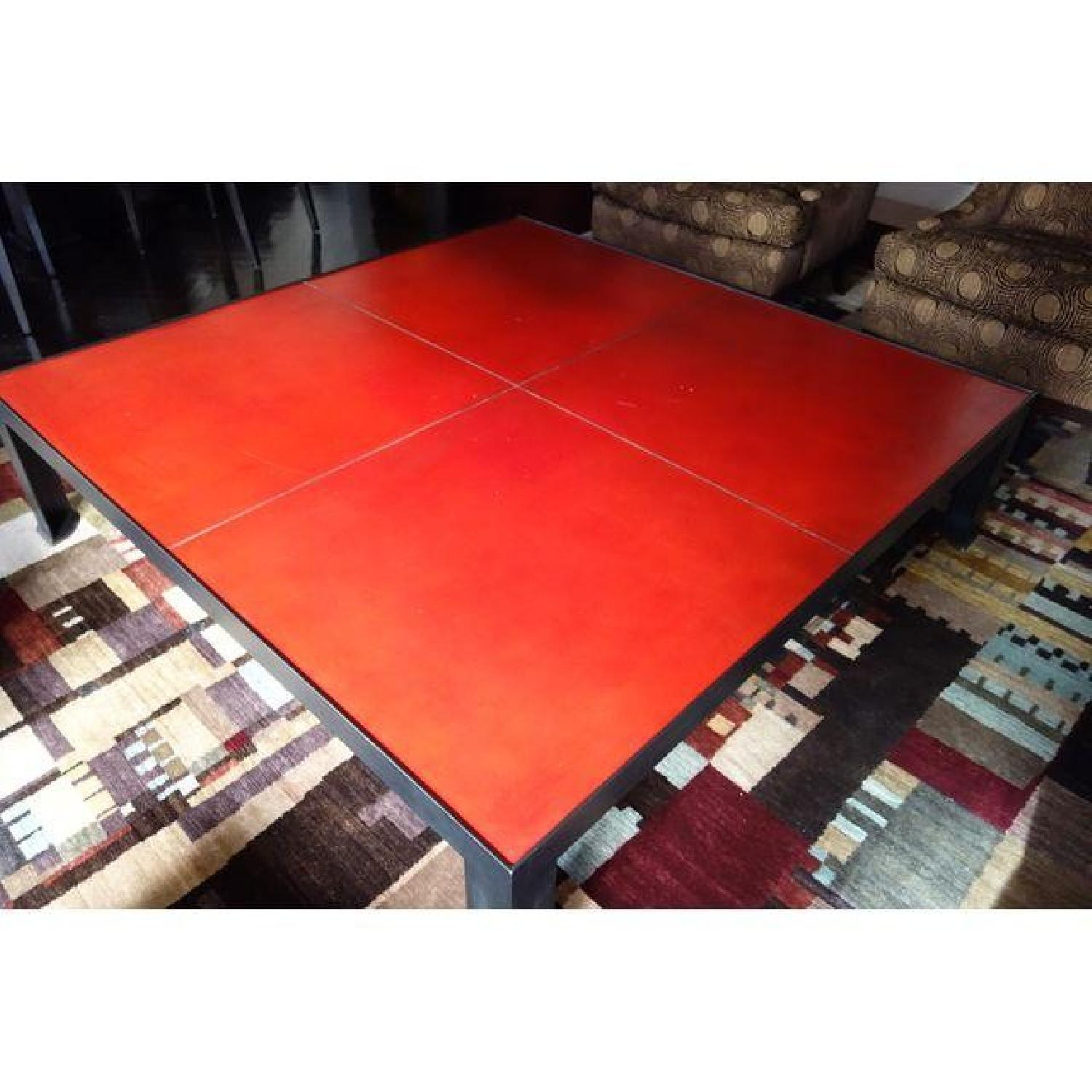 Leather & Metal Coffee Table - image-2