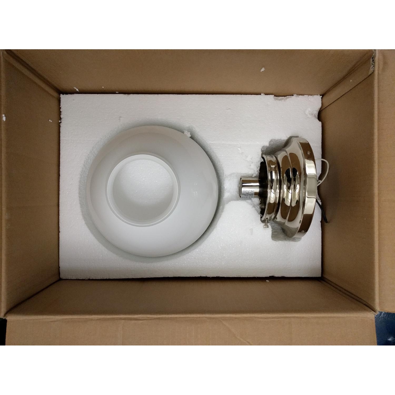 Edwardian Open-Bottom Flush-Mount Light in Polished Nickel - image-1