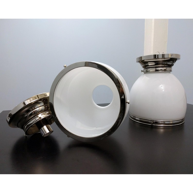 Edwardian Open-Bottom Flush-Mount Light in Polished Nickel - image-2