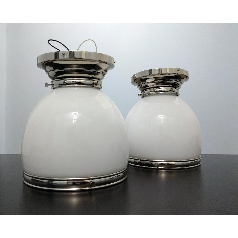 Edwardian Open-Bottom Flush-Mount Light in Polished Nickel - image-3