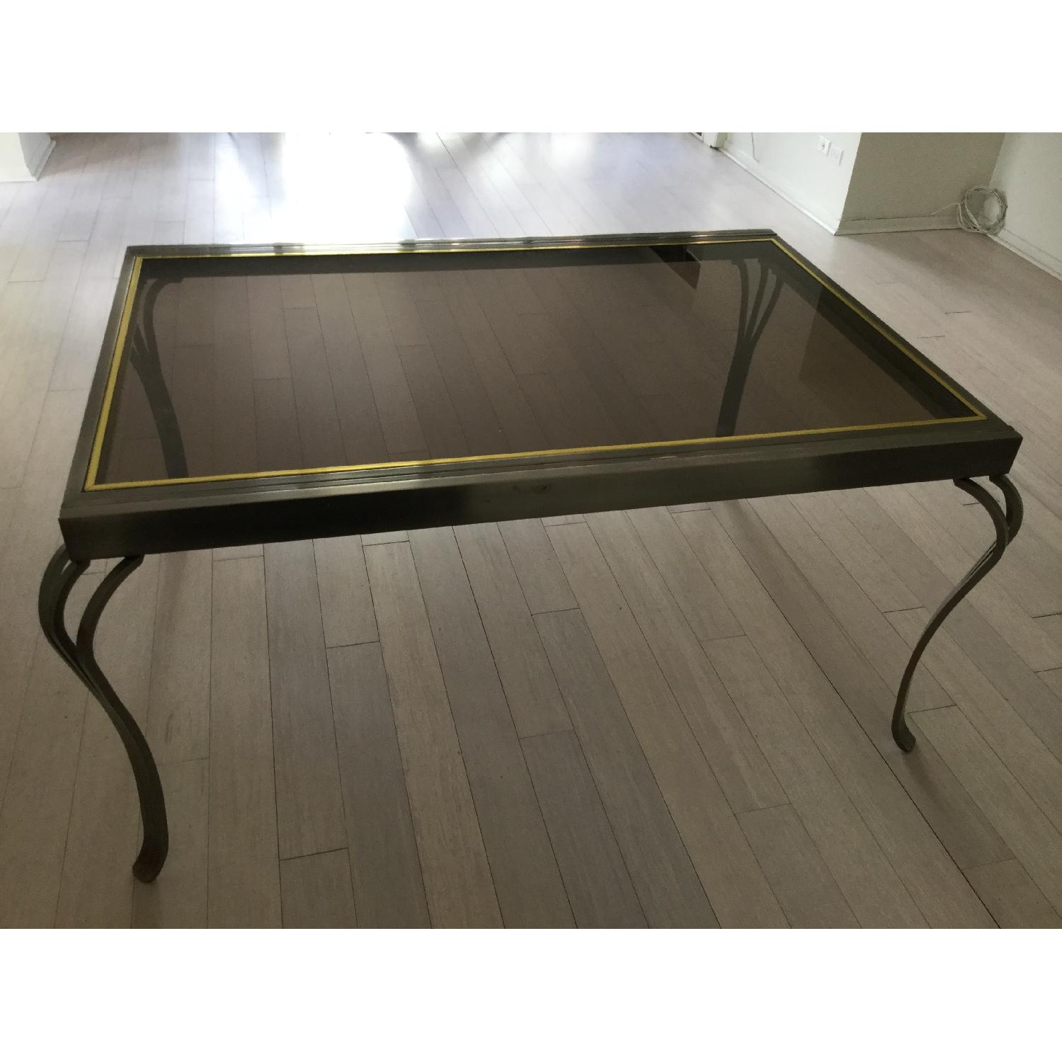 Extendable Glass & Metal Dining Table - image-1