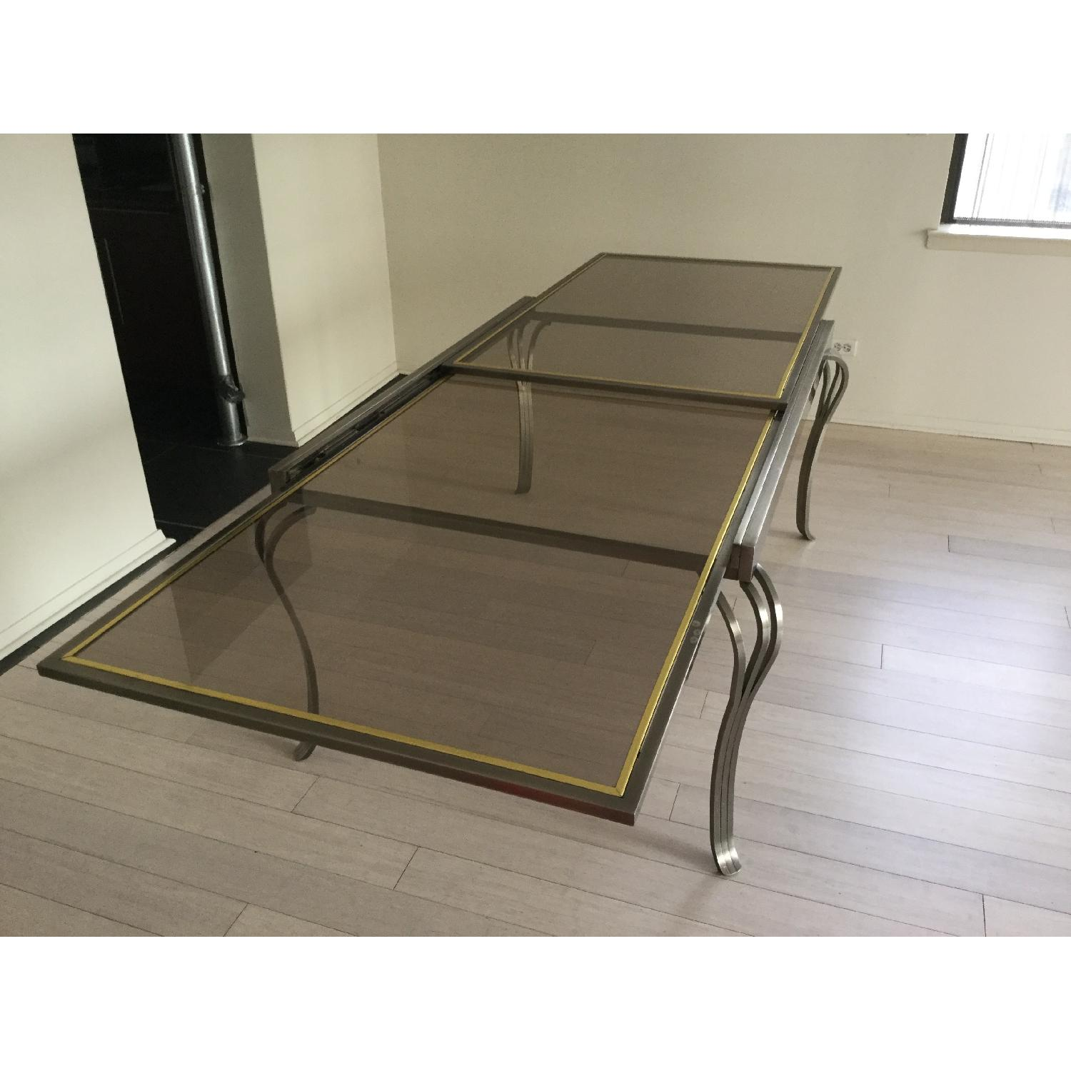 Extendable Glass & Metal Dining Table - image-2