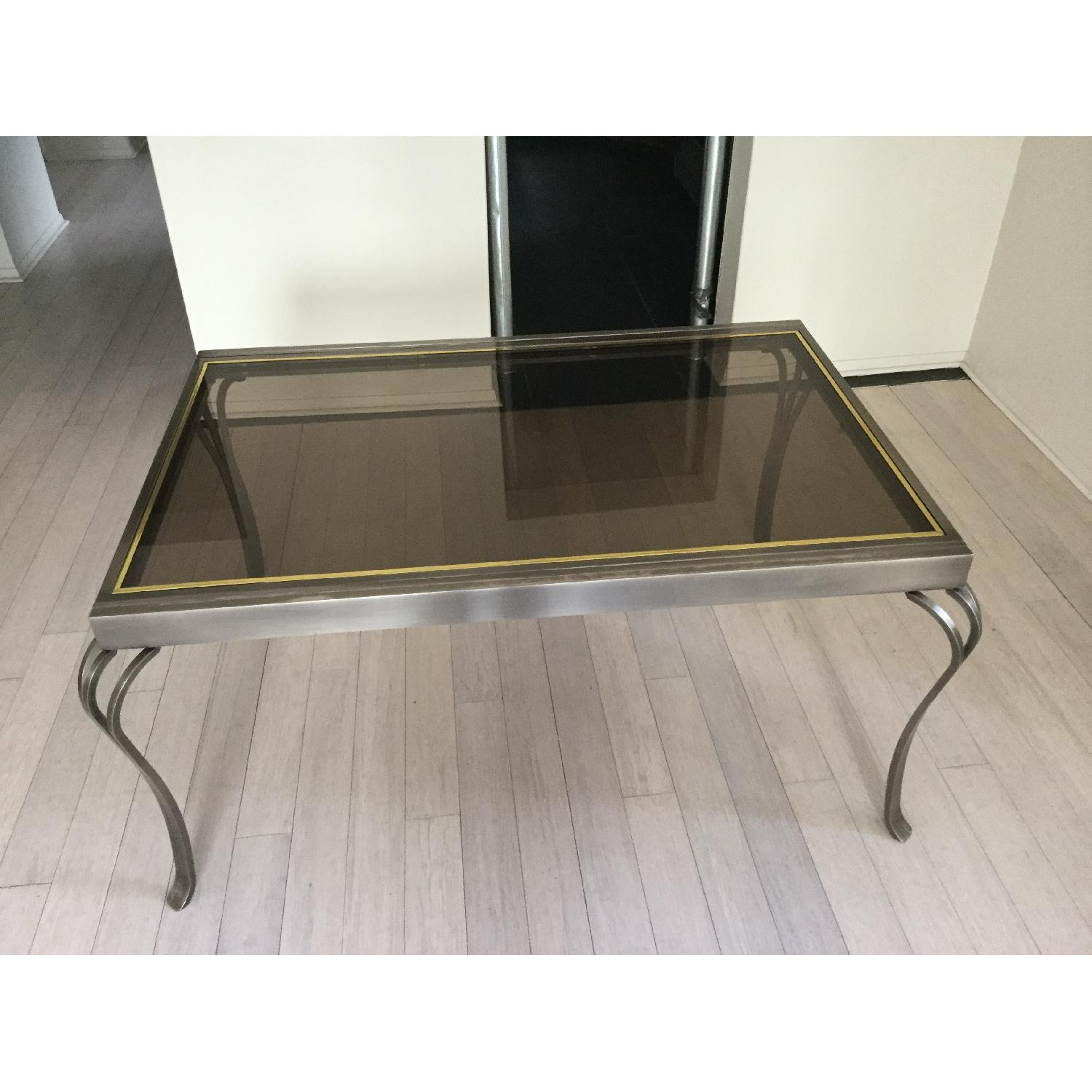 Extendable Glass & Metal Dining Table - image-3