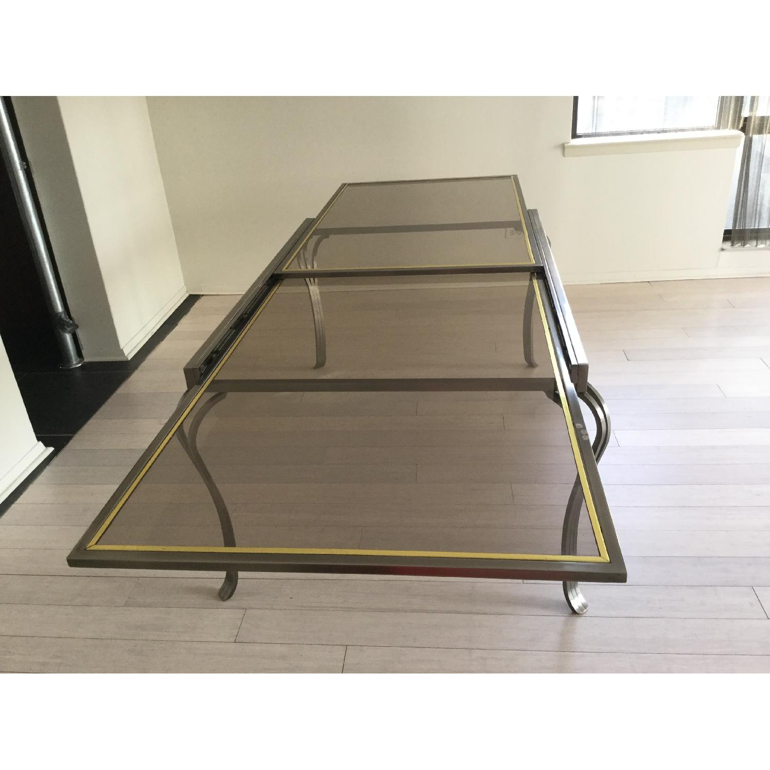 Extendable Glass & Metal Dining Table - image-6
