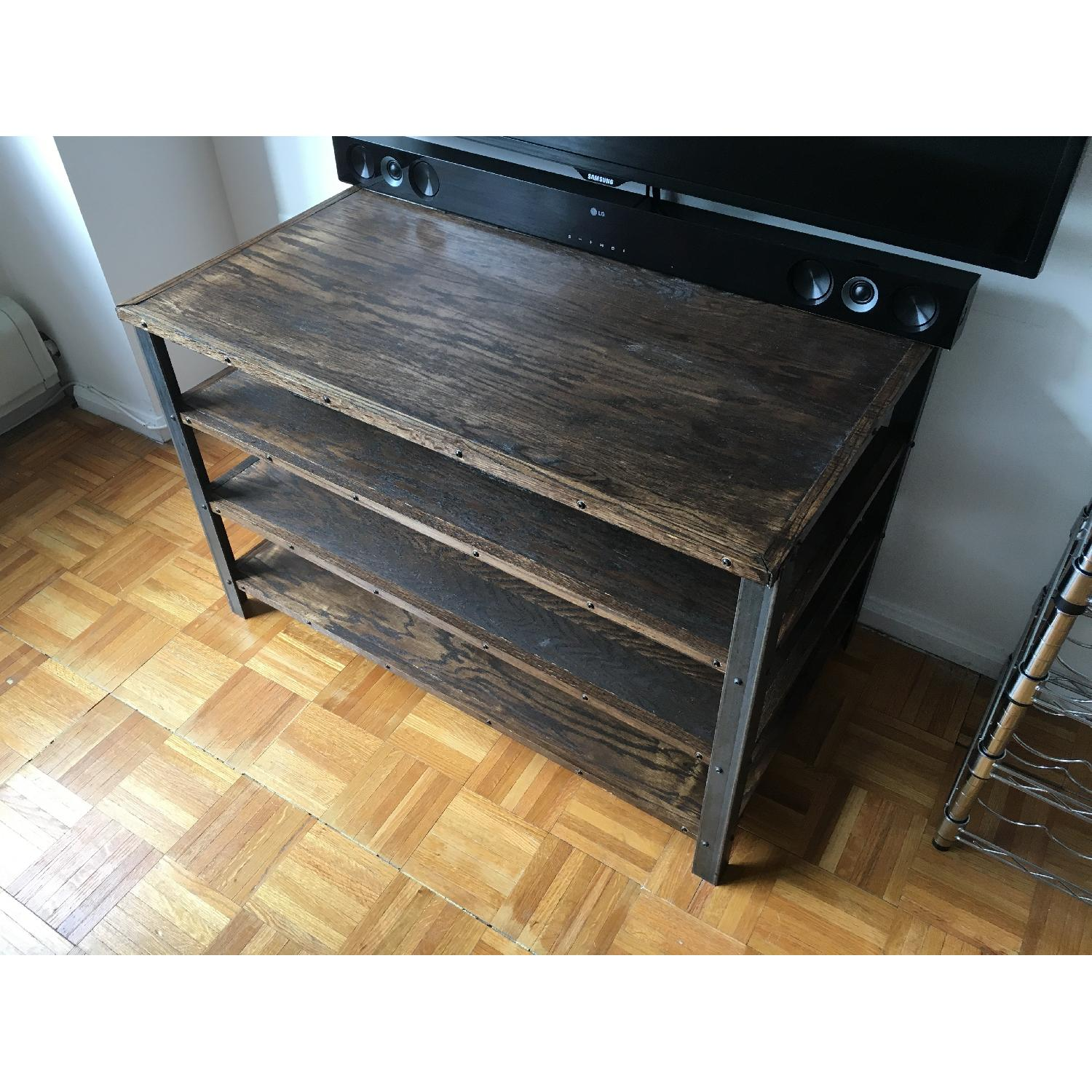 Antique Industrial Style Media Storage Shelves - image-1