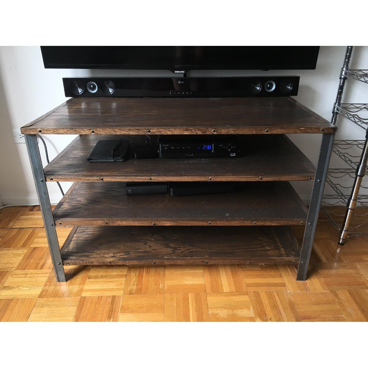 Antique Industrial Style Media Storage Shelves - image-2