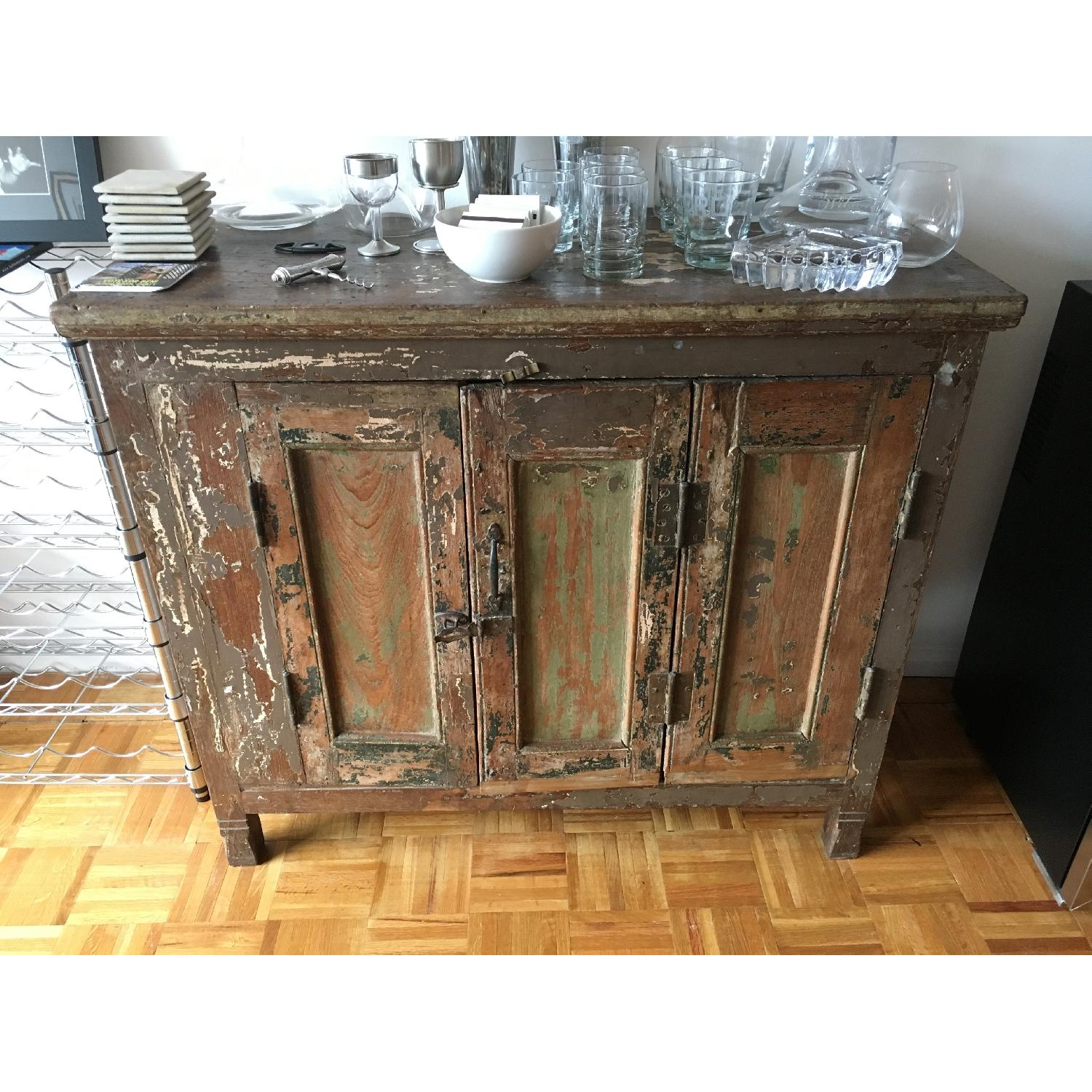 Antique 1920's Wooden Bar/Credenza from India - image-1
