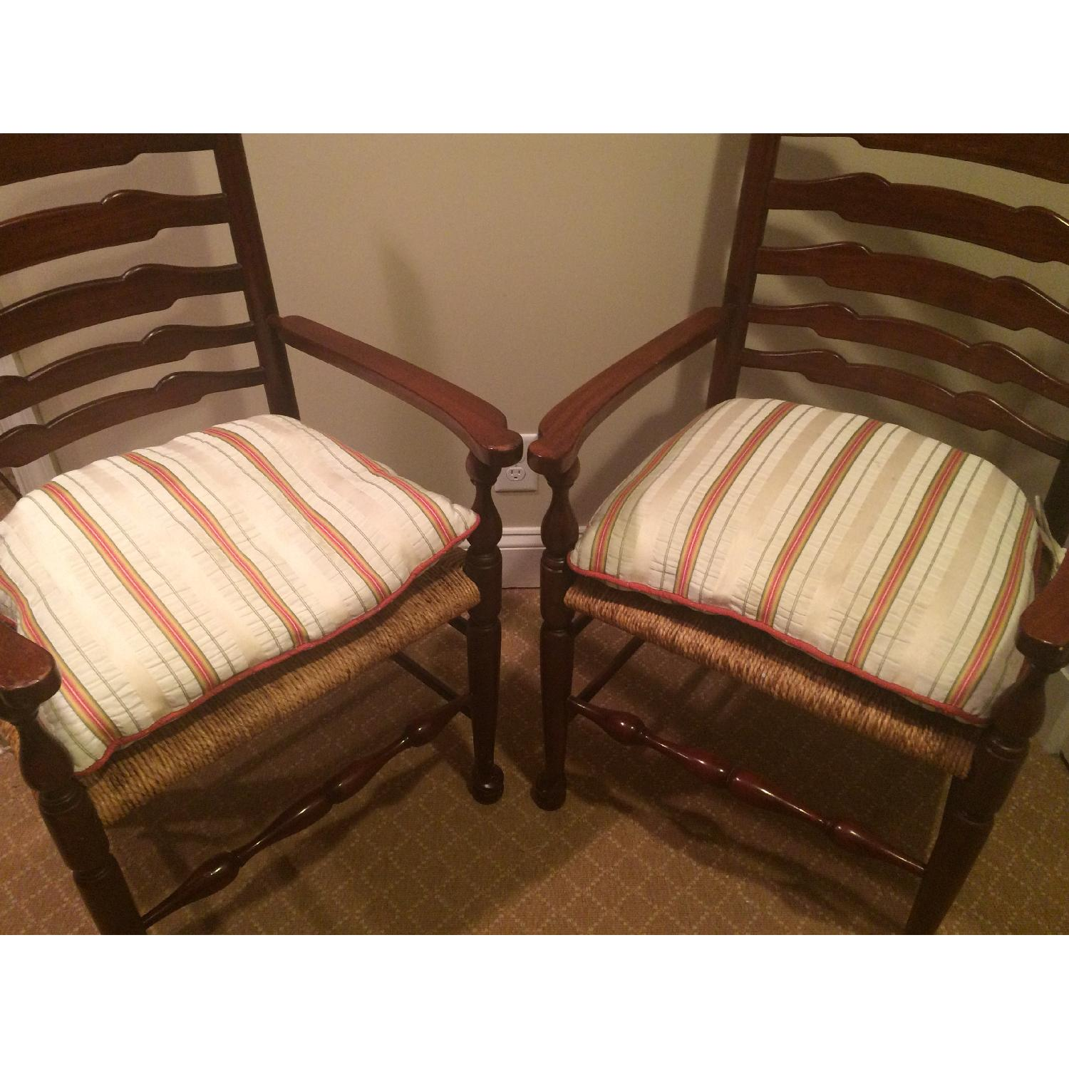 French Country Ladderback Armchairs - image-4