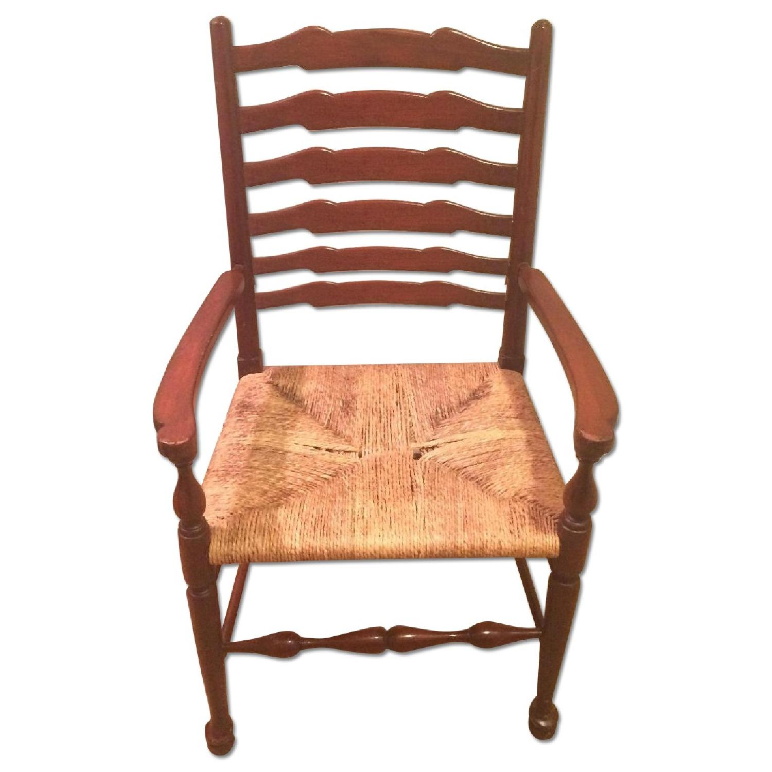 French Country Ladderback Armchairs - image-0