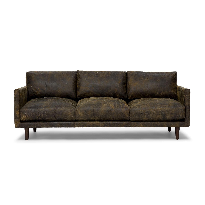 Article Nirvana Sofa in Dakota Smoke/Dark Brown - image-0