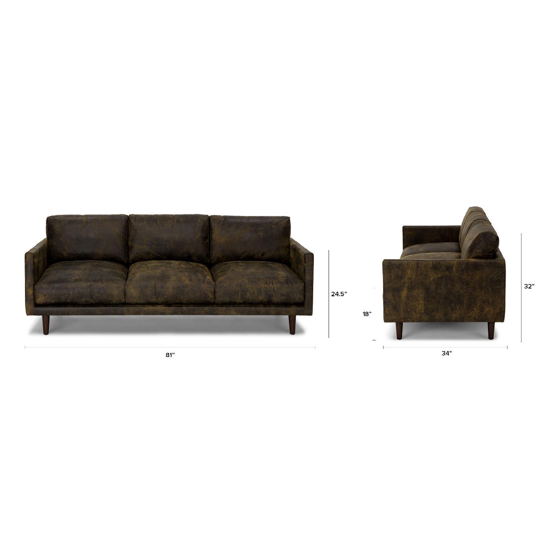 Article Nirvana Sofa in Dakota Smoke/Dark Brown - image-5
