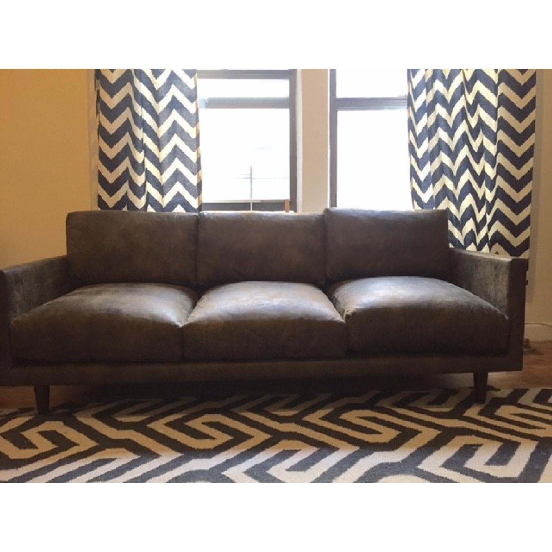 Article Nirvana Sofa in Dakota Smoke/Dark Brown - image-8