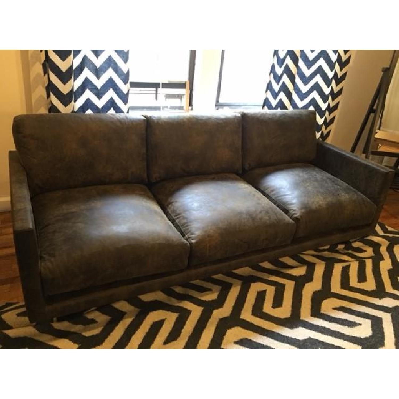Article Nirvana Sofa in Dakota Smoke/Dark Brown - image-9