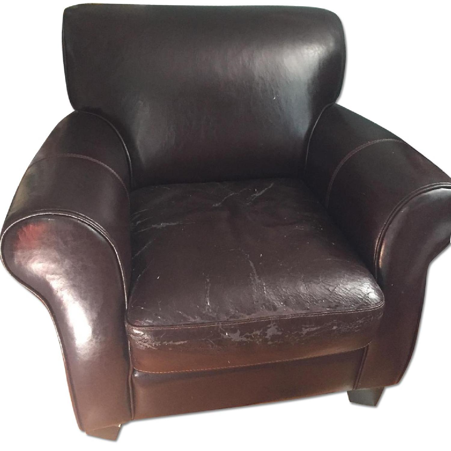 Leather Armchair - image-0