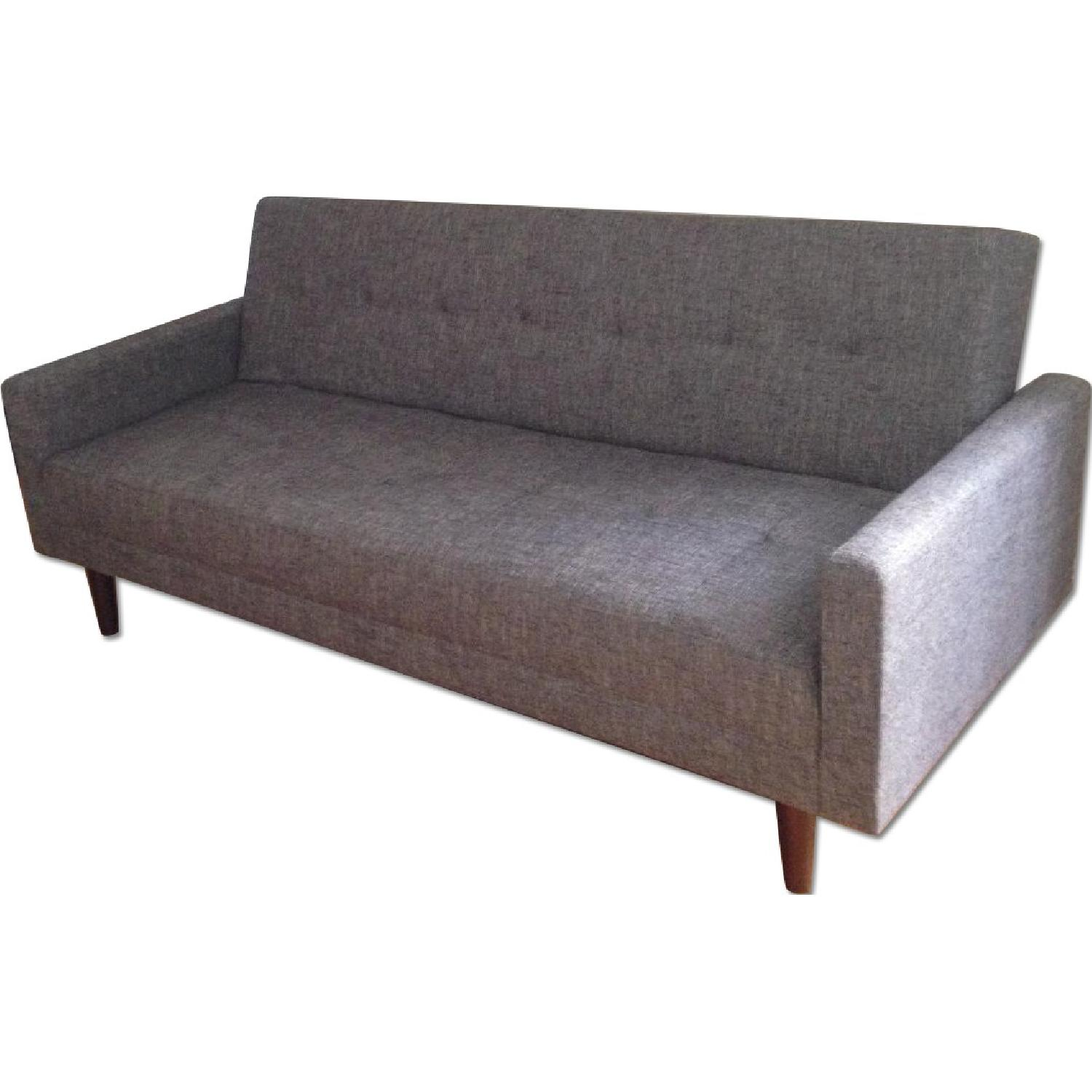 Modern Convertible Sofa Sleeper in Grey Fabric w AptDeco