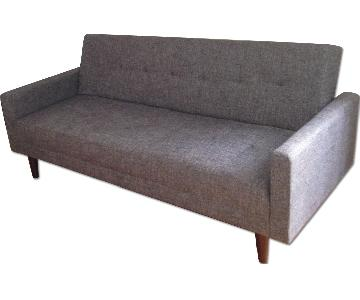 Modern Grey Linen Fabric Sofabed