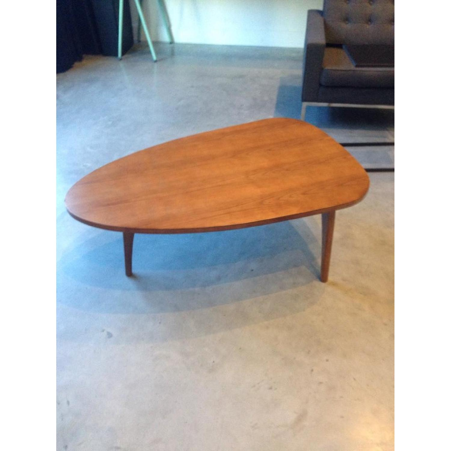 Mid-Century Triangular Coffee Table in Walnut - image-1