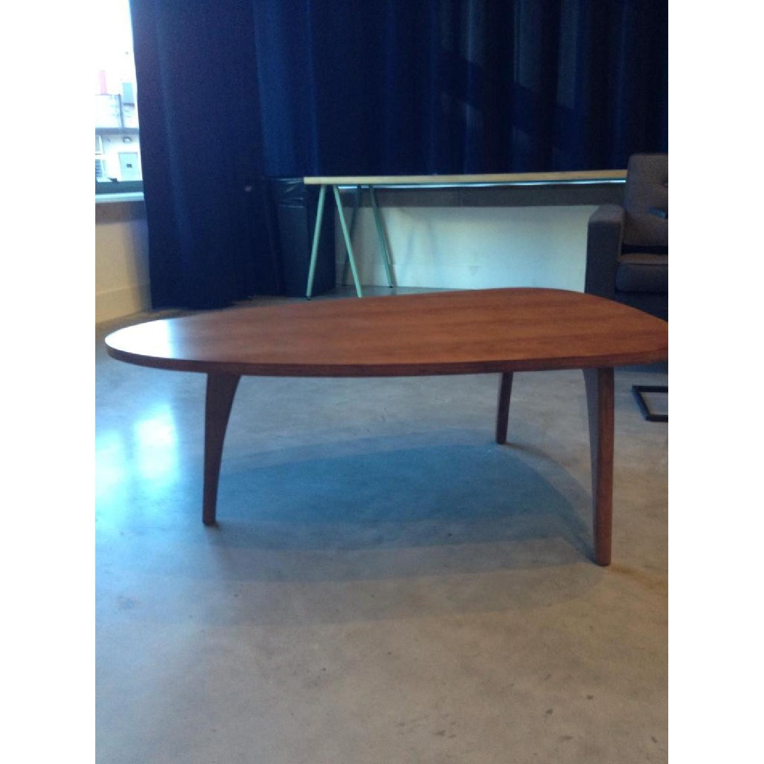 Mid-Century Triangular Coffee Table in Walnut - image-2