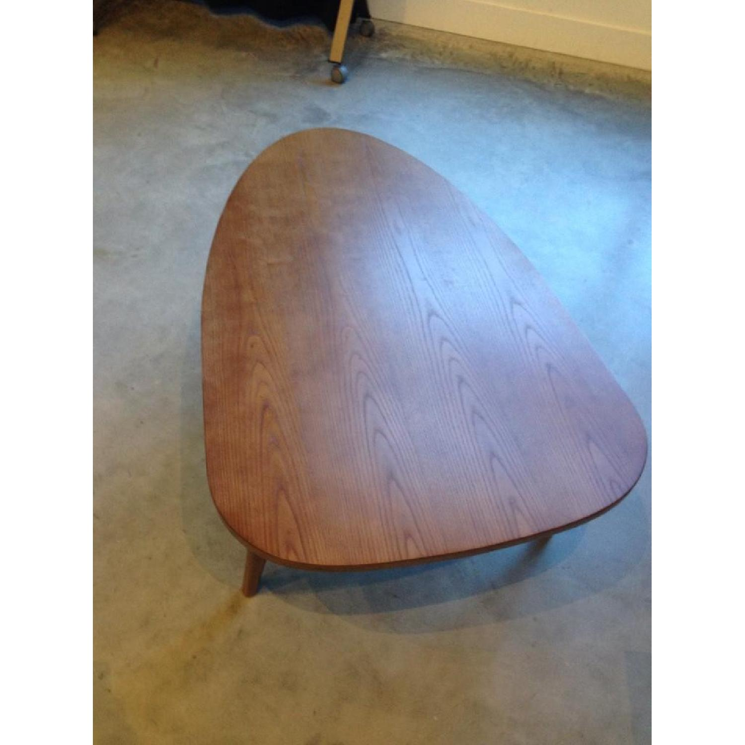 Mid-Century Triangular Coffee Table in Walnut - image-3