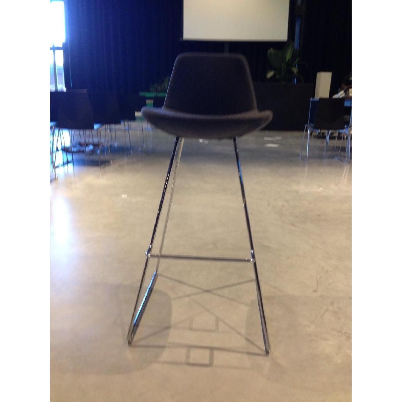 SohoConcept Commercial Grade Modern Barstools in Grey Wool F - image-1