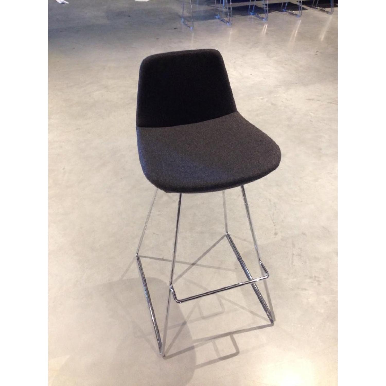 SohoConcept Commercial Grade Modern Barstools in Grey Wool F - image-2