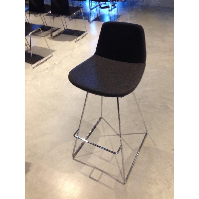 SohoConcept Commercial Grade Modern Barstools in Grey Wool F - image-3