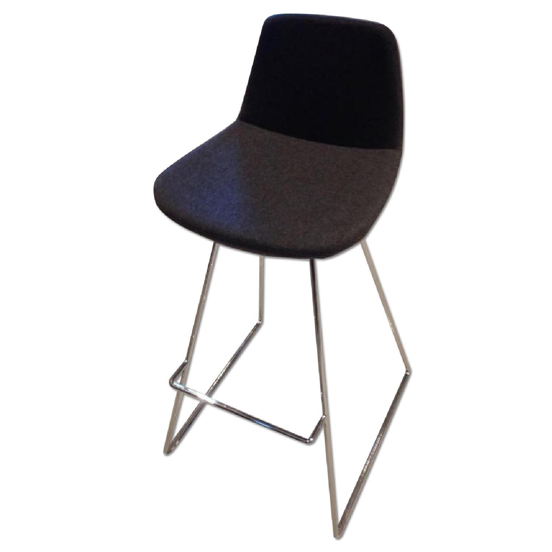 SohoConcept Commercial Grade Modern Barstools in Grey Wool F - image-0