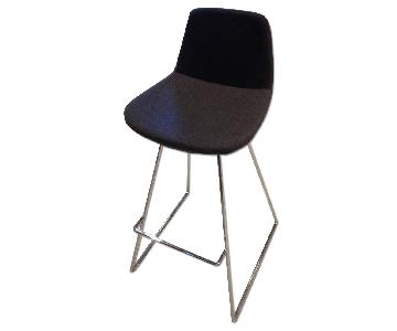 SohoConcept Commercial Grade Modern Barstools in Grey Wool Fabric