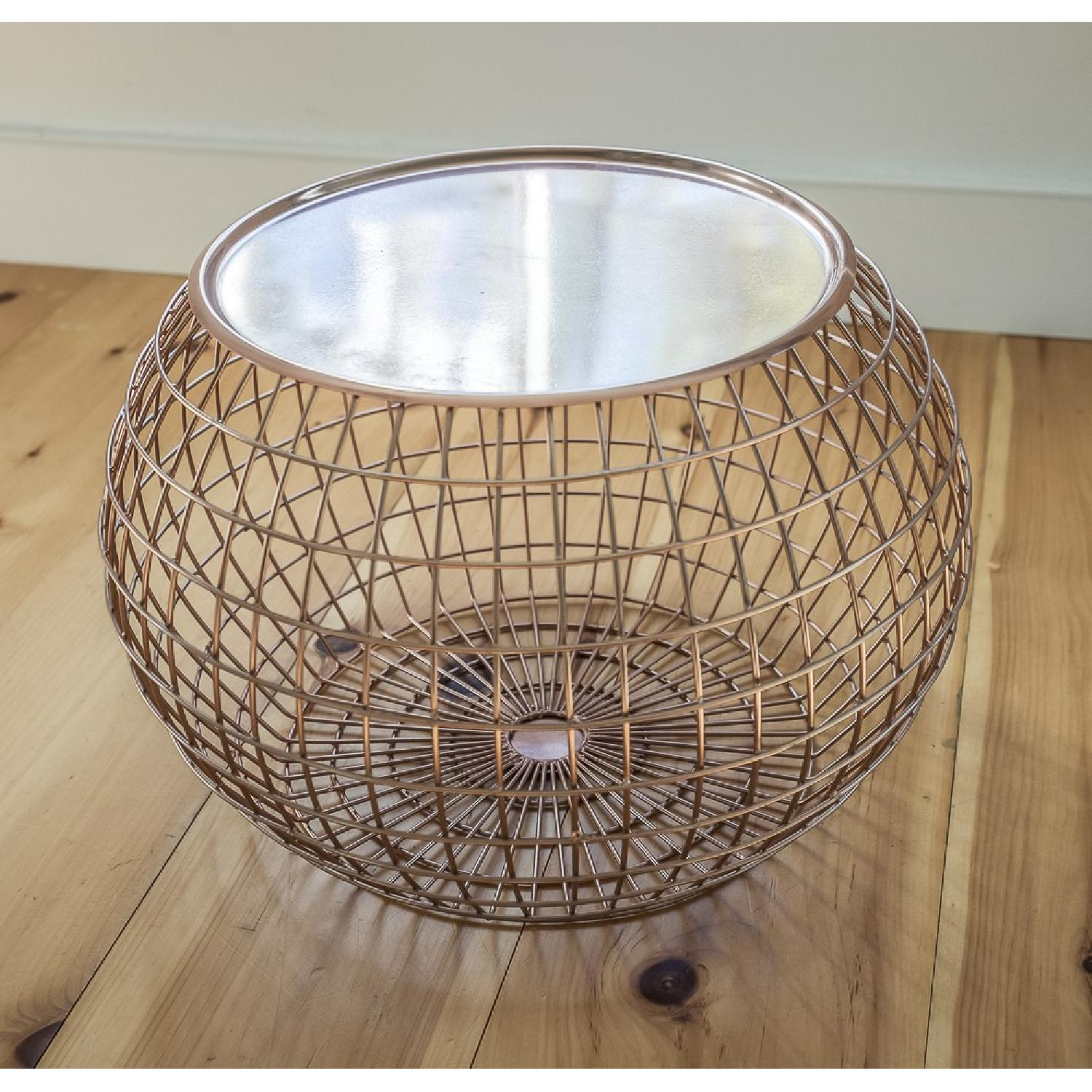 ABC Carpet and Home Copper Wire Tray Table - image-1