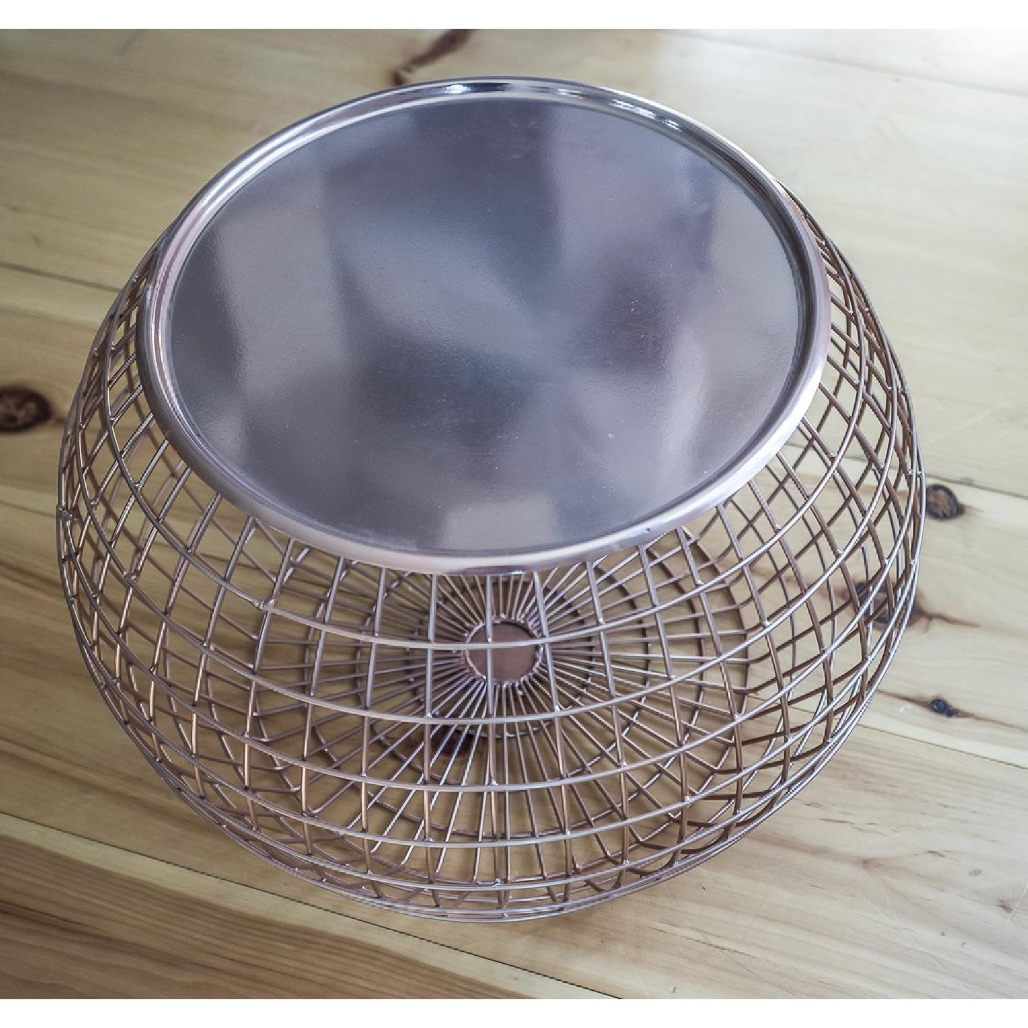 ABC Carpet and Home Copper Wire Tray Table - image-3