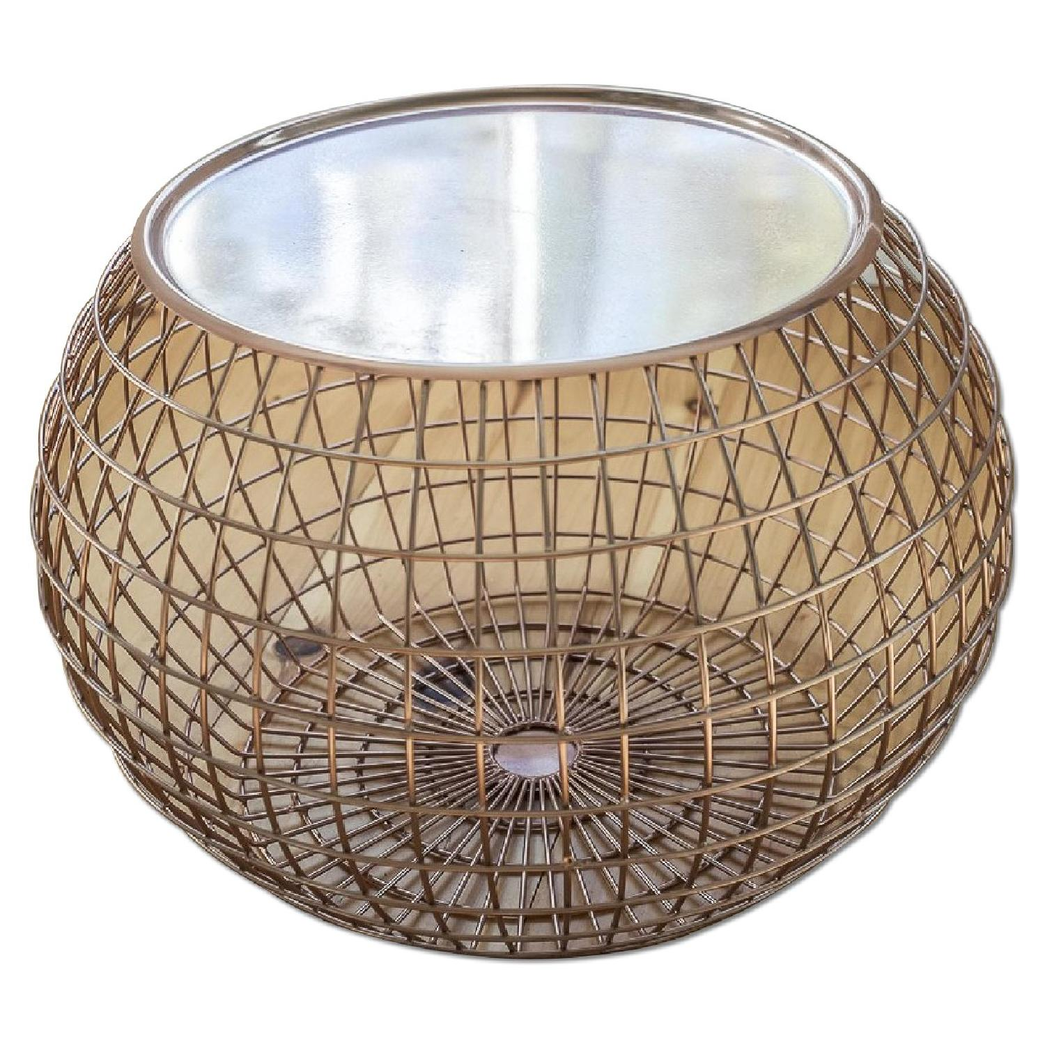 ABC Carpet and Home Copper Wire Tray Table - image-0