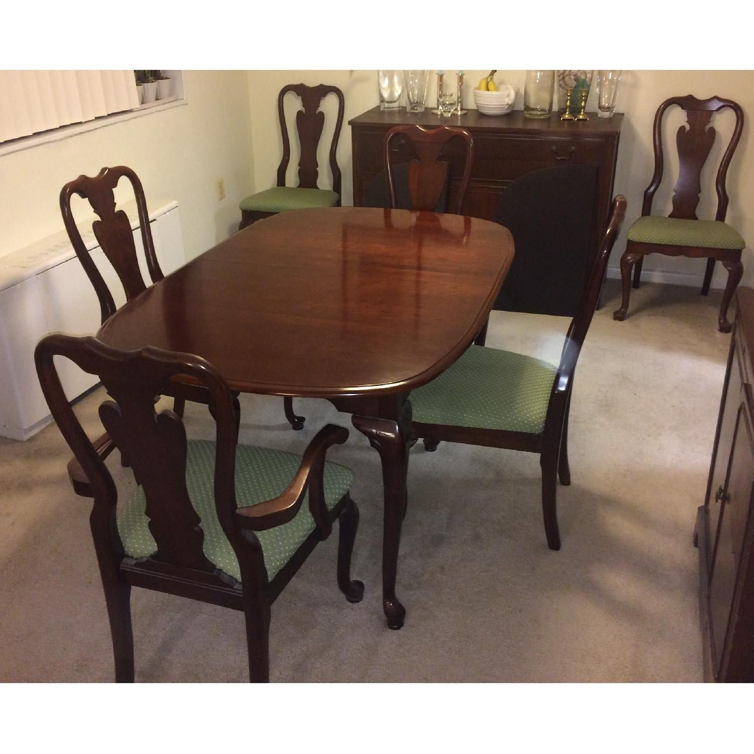 Cherryvale American Drew 7-Piece Extendable Oval Dining Set in Cherry - image-1