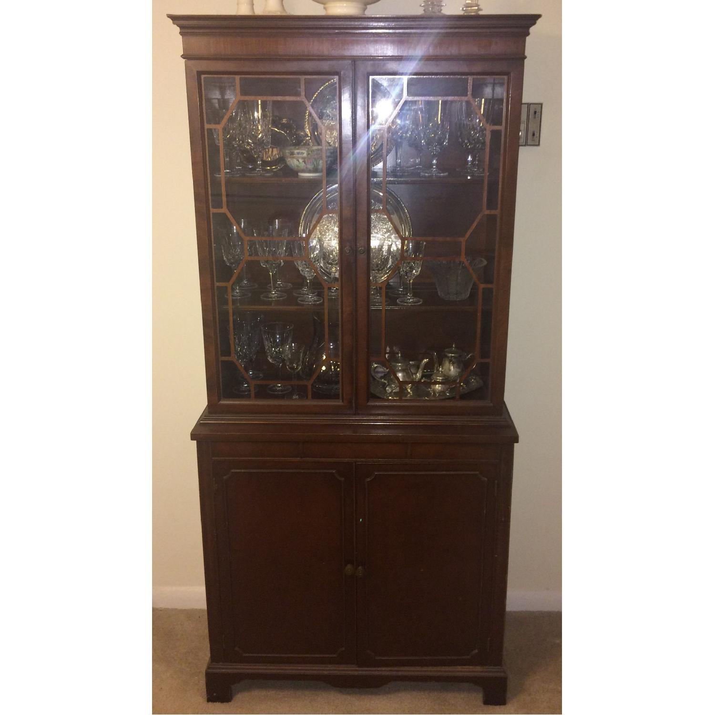 Antique English/Hepplewhite Style China/Curio Cabinet - image-1
