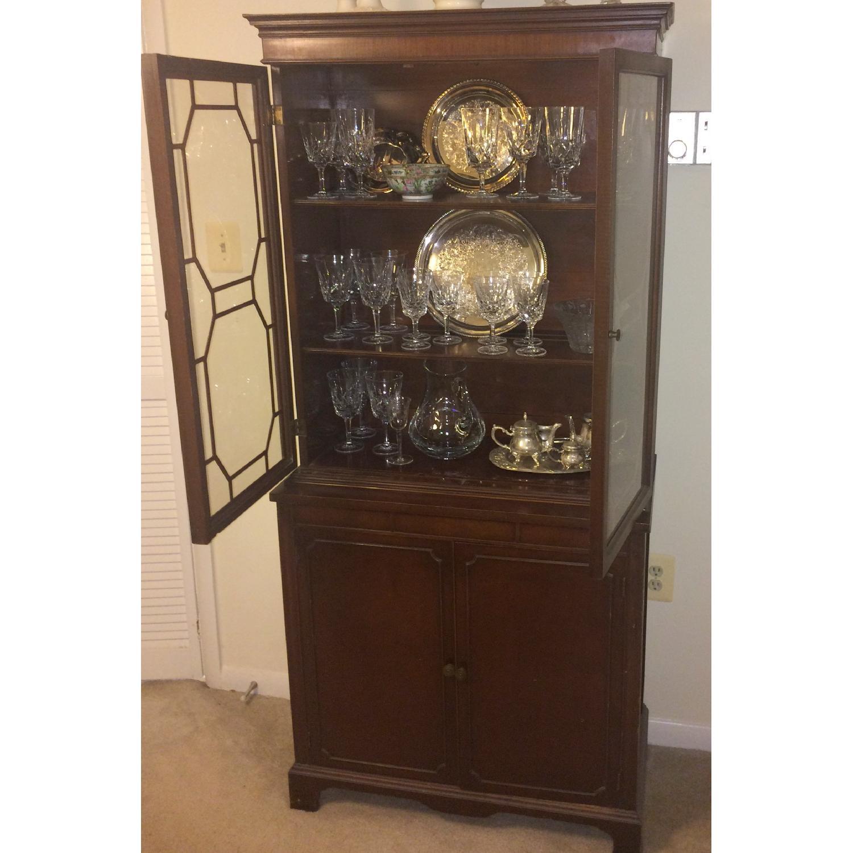 Antique English/Hepplewhite Style China/Curio Cabinet - image-2