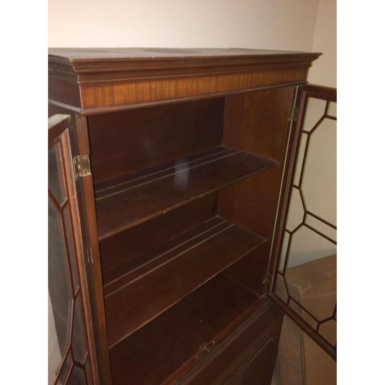 Antique English/Hepplewhite Style China/Curio Cabinet - image-3