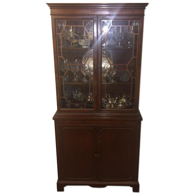Antique English/Hepplewhite Style China/Curio Cabinet - image-0