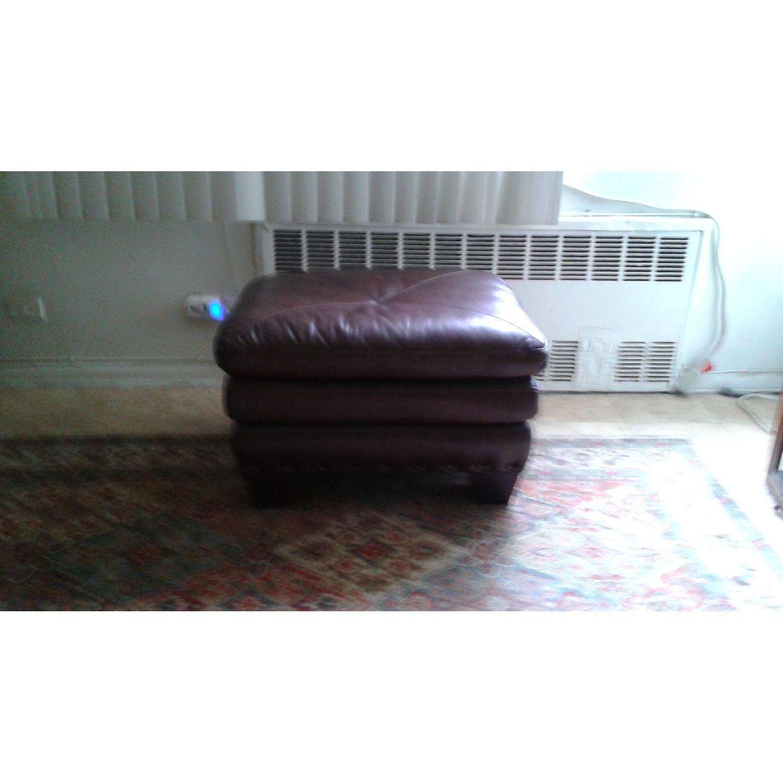 Bob's Lawrence Top Grain Leather Sofa w/ Ottoman - image-3