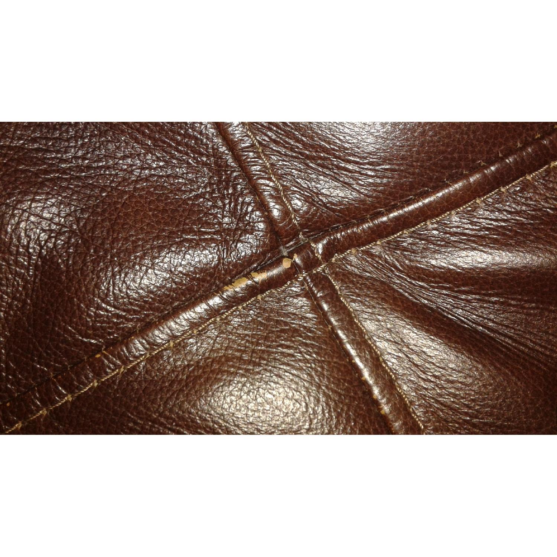 Bob's Lawrence Top Grain Leather Sofa w/ Ottoman - image-4