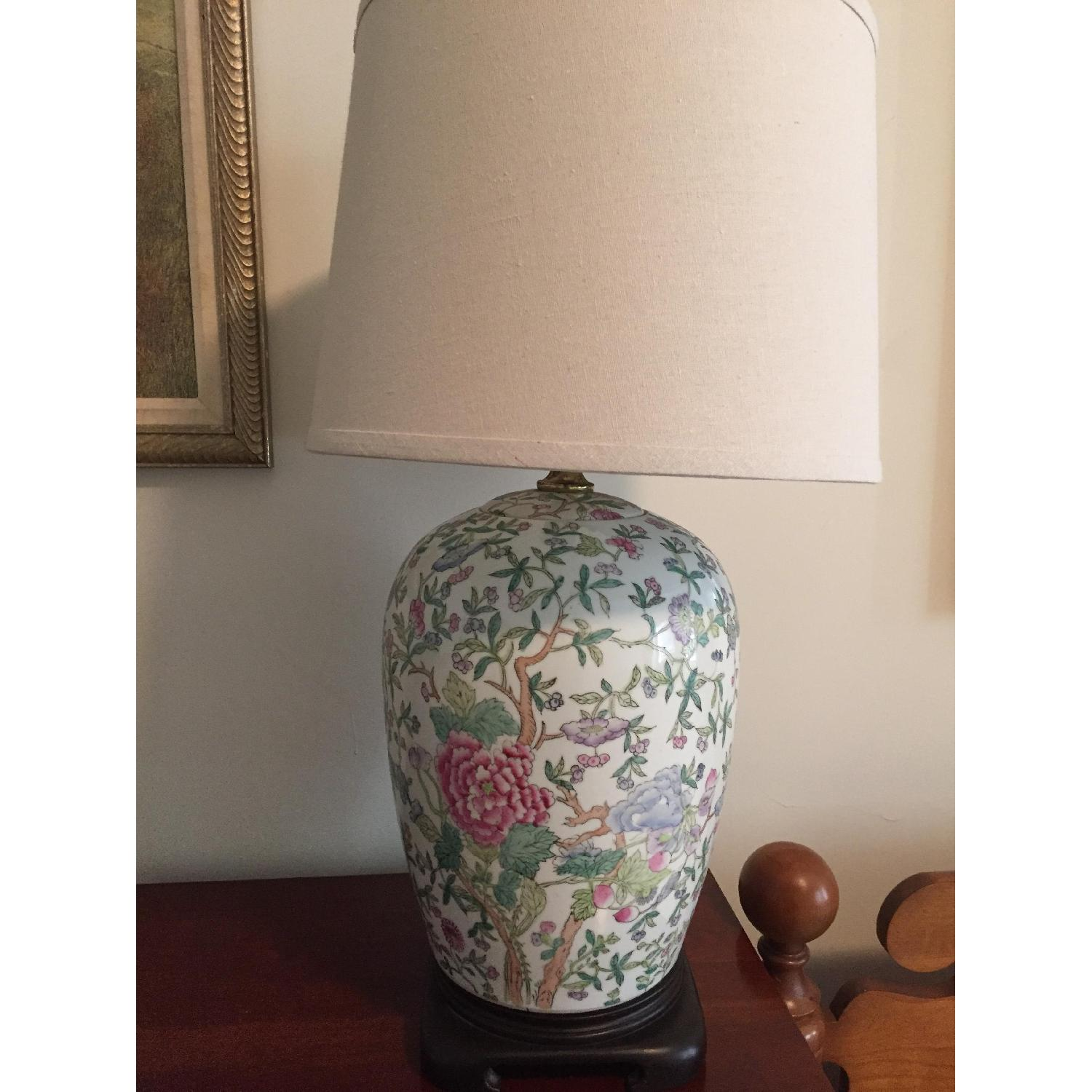 Chinese Style Porcelain Lamps - image-1