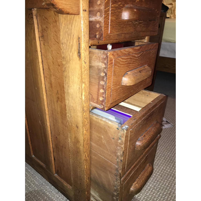 Antique Oak S-Shape Roll-Top Desk - image-7